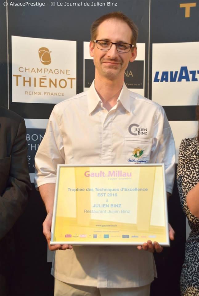 Julien Binz obtient le trophée des Techniques d'Excellence