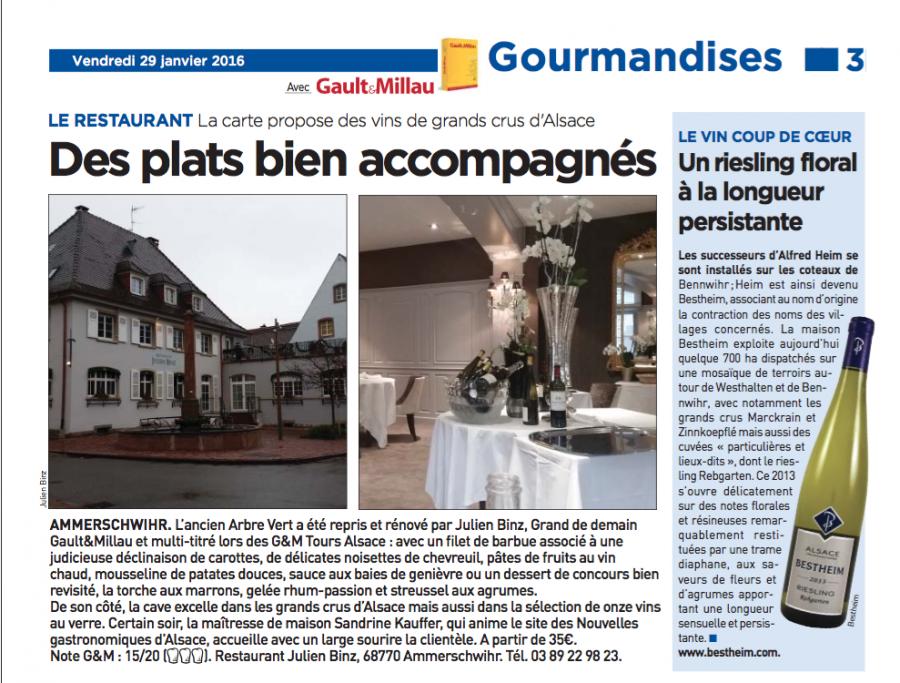 Revue de presse dans 20mn Strasbourg