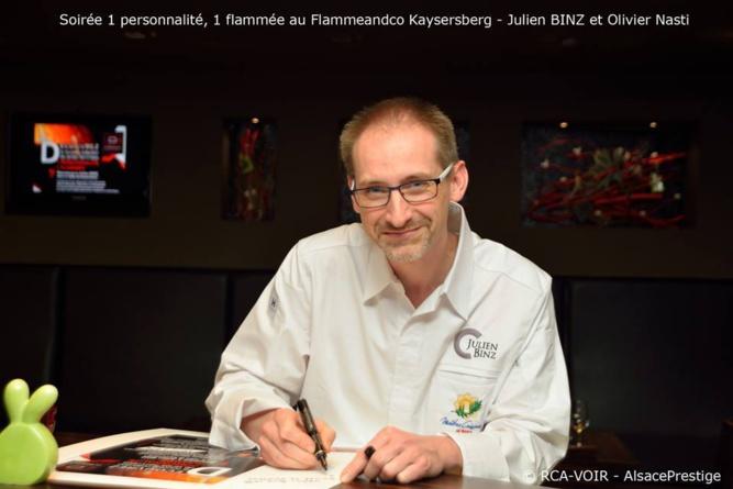 Flamme & Co; Julien Binz signe un nouveau menu de tartes flammées