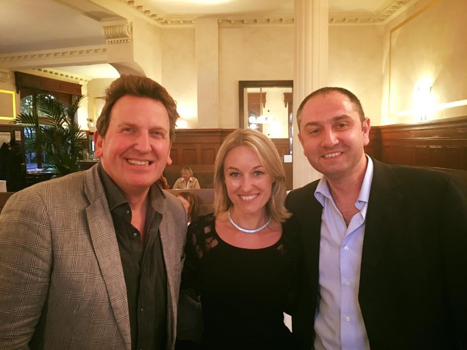 Sandrine Kauffer entourée de Christophe Felder et Pascal Leonetti
