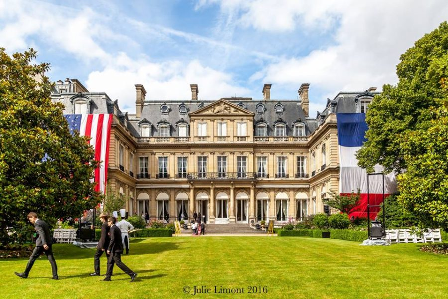 Julien binz invit la r sidence de l ambassade des etats for Hotels unis de france