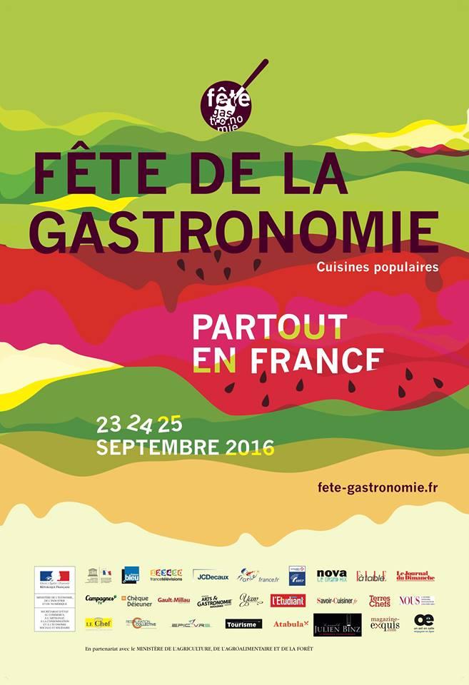 affiche officielle de la fête de la gastronomie 2016