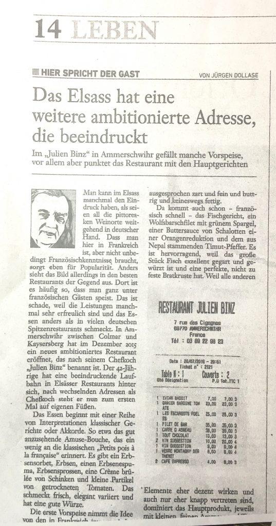 Revue de presse un article de Jürgen Dollasse dans Der Spiegel 1/2