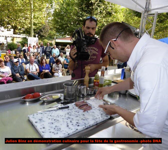 Le restaurant Julien Binz participe à la fête de la gastronomie