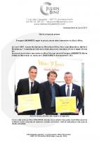 CP François Lhermitte obtient le trophée du Jeune talent sommelier du Wine Gault Millau Tour