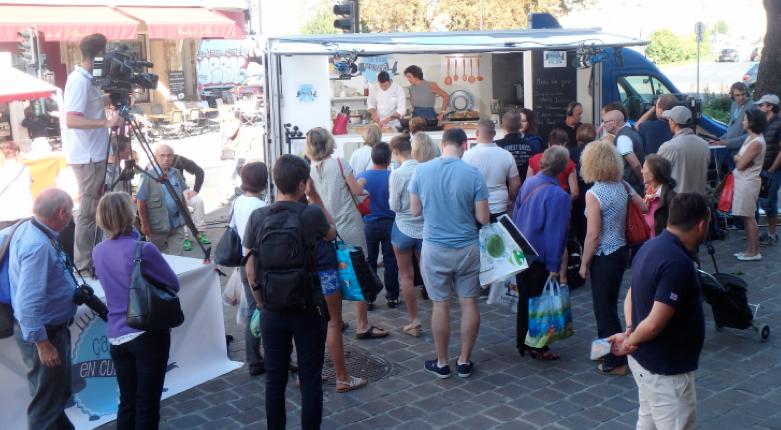 """Tournage de L'émission """"Ca roule en cuisine"""" à Ammerschwihr avec Julien Binz"""