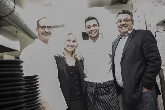 Julien Binz, Sandrine Kauffer, Sebastien d'Onghia et Emmanuel Nasti