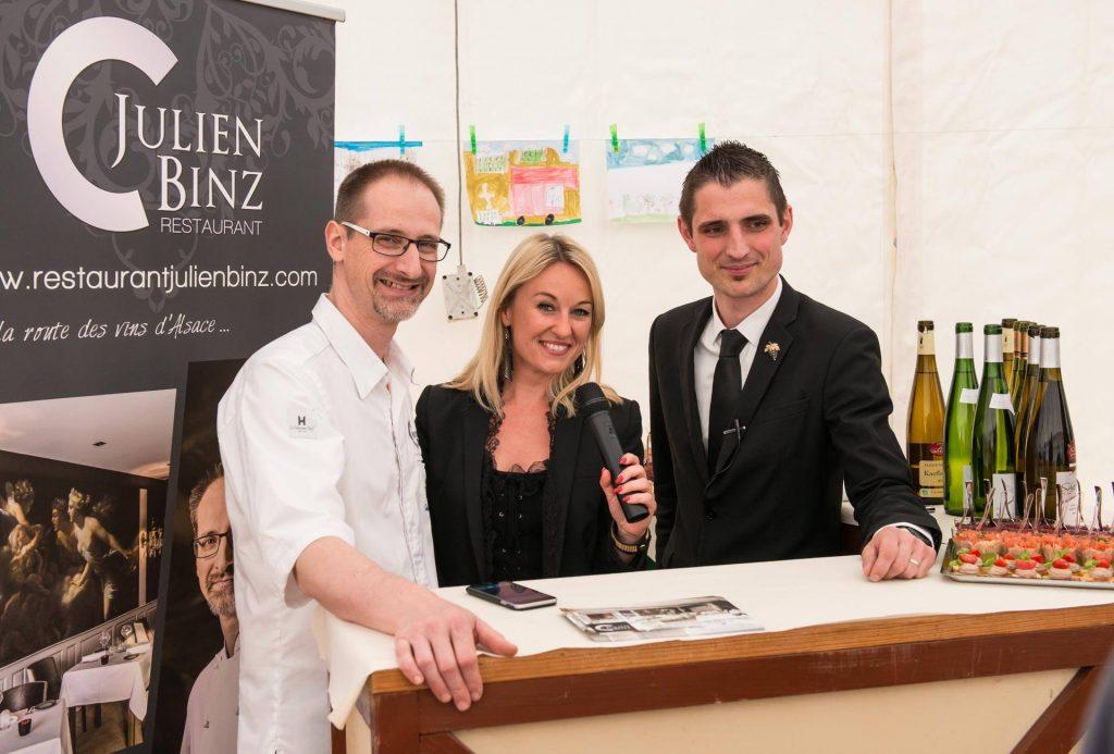 Julien Binz, Sandrine Kauffer et François Lhermitte participent pour la première fois à la foire aux vins d'Ammerschwihr