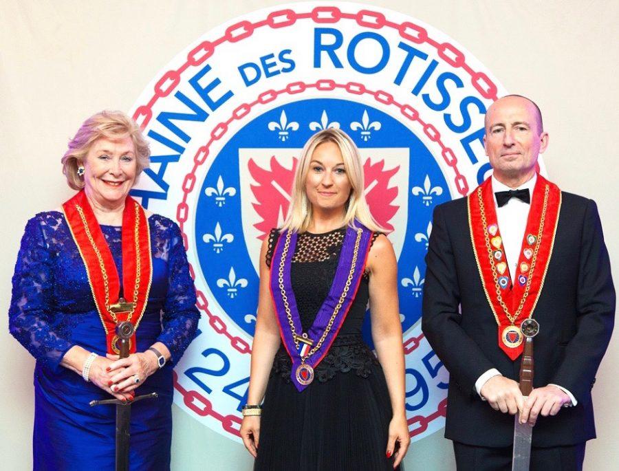 Sandrine Kauffer est intronisée membre de la Chaine des Rôtisseurs