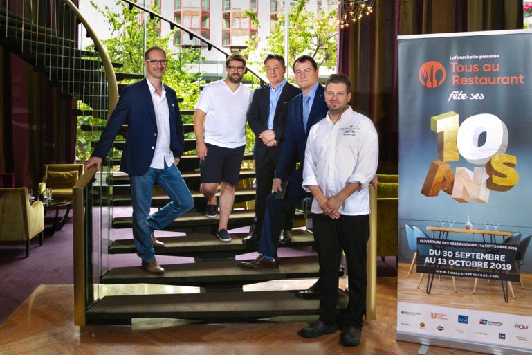 De G à D Julien Binz, Thierry Schwartz, Stanislas Leblanc, Jean-Philippe Kern et Mathieu Klein ©N.Poulain