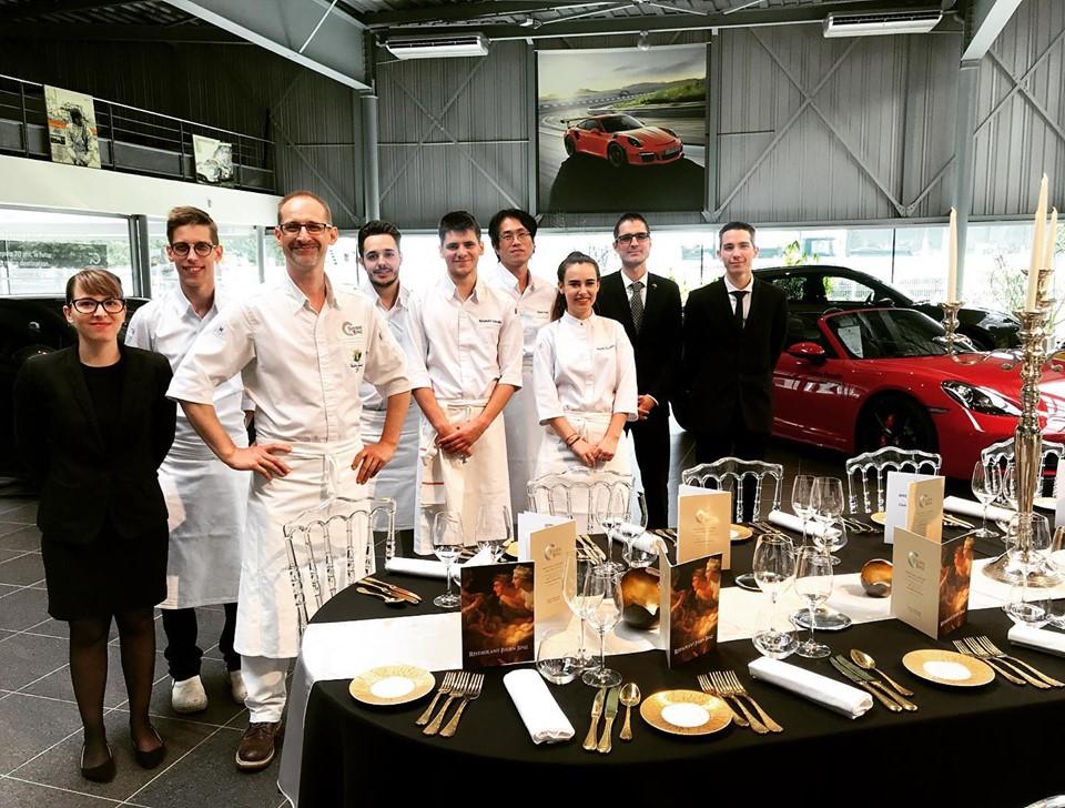 Le restaurant Julien Binz réalise un diner d'exception au Centre Porsche Mulhouse ©Sandrine Kauffer-Binz