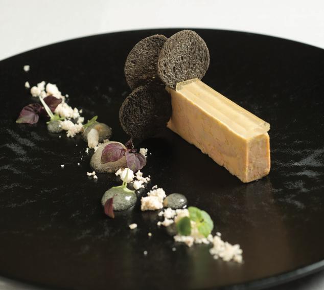 Recette :Le foie gras d'oie mi-cuit, gelée au Gewurztraminer Kaefferkopf