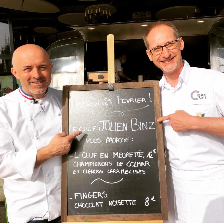 Julien Binz des menus offerts aux Etudiants au Café Rapp de Colmar
